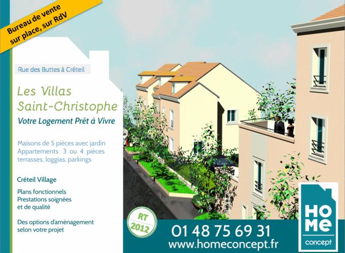 CRETEIL-maison neuve-appartement neuf-Les Villas Saint-Christophe-Home Concept